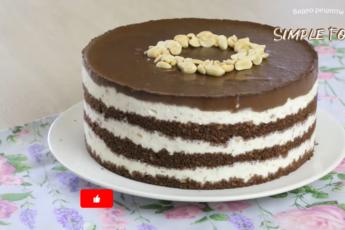 Торт «Сникерс». Без выпечки.