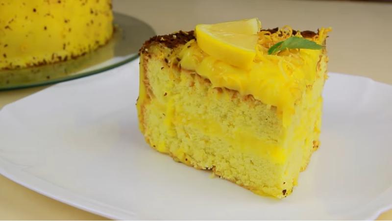 Очень вкусный лимонный торт. Идеальное сочетание цитрусового крема и нежных бисквитных коржей, и никакой соды и разрыхлителя.