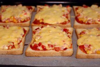 Горячие бутерброды «Мини пицца»
