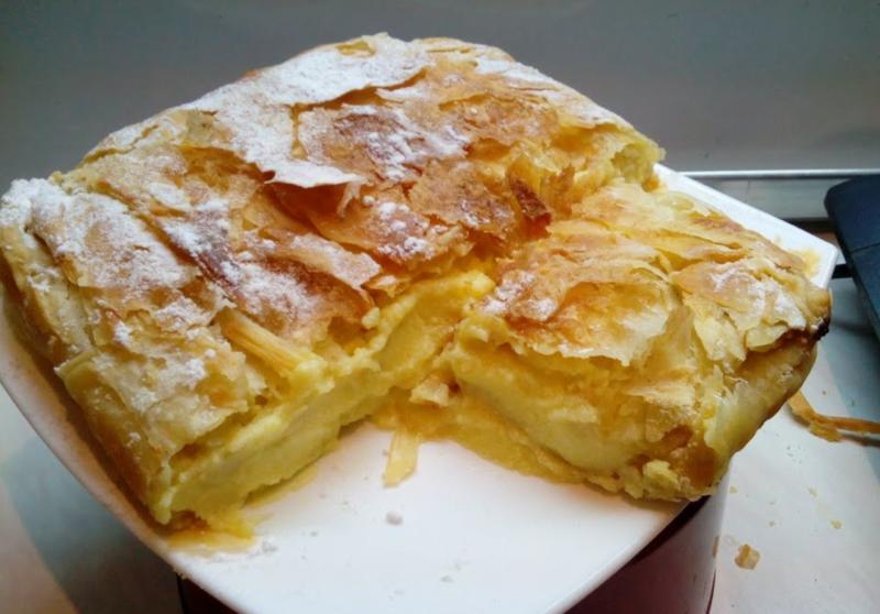 Греческий пирог Bougatsa