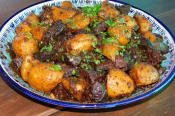 Картошка по-казахски (куырдак) для казана