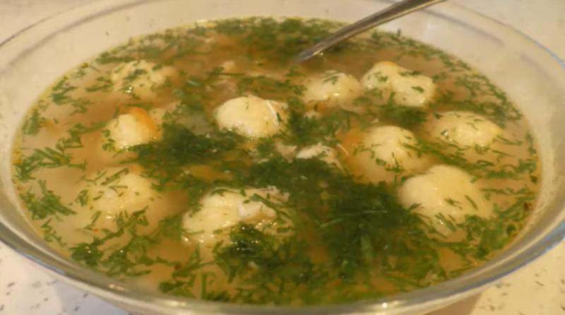 Суп с необычными клецками