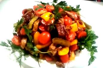 Праздничный салат «Могучая кучка»