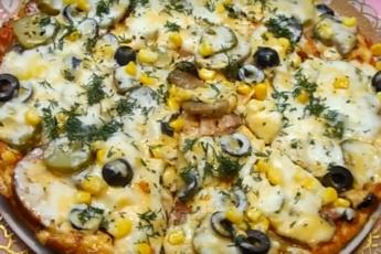 Шикарная пицца «Ассорти» за 20 минут