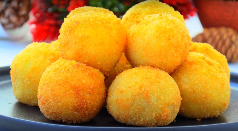 Хрустящие картофельные шарики с начинкой