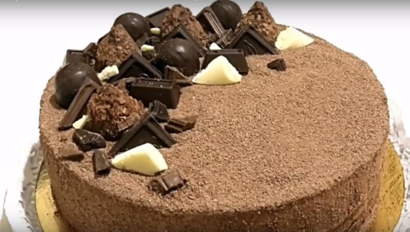 """Советский торт """"Трюфель"""" с шоколадной крошкой. Золотая коллекция проверенных рецептов"""
