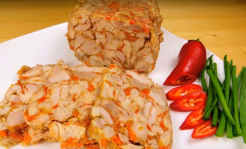 Домашняя нарезка из двух видов мяса