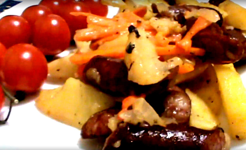 Сочный и ароматный картофель, запеченный по-охотничьи