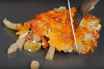 Полезное блюдо – мясо по-французски с гарниром «два в одном»
