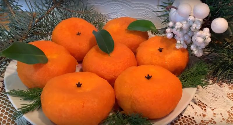 Закуска «Новогодний мандарин»
