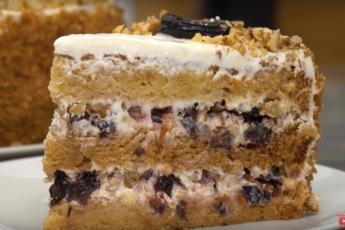 Бесподобный торт с черносливом и орехами
