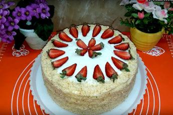 Великолепный торт с фруктами