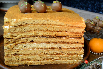 Торт «Мой любимый медовик»