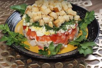 Оригинальный слоеный салат с сельдью