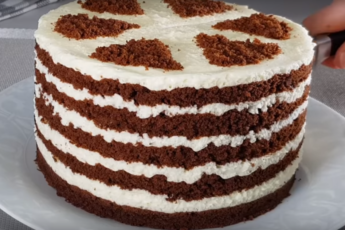 Торт «Удовольствие». Нежный бисквит и воздушный крем