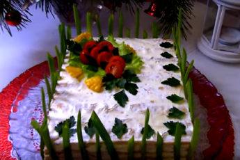 Невероятно вкусный мясной торт