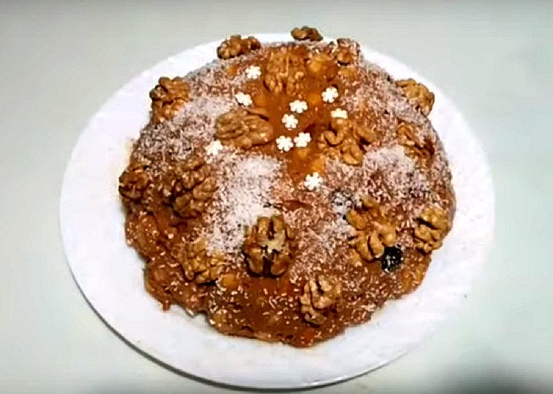 Торт орехово-медовый без коржей