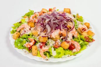 Оригинальный салат с креветками