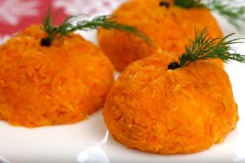 Закуска для праздничного стола «Мандаринки»