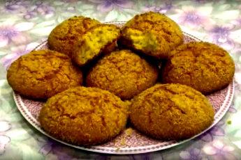 Рассыпчатое кокосовое печенье на манке