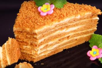 Ленивый медовик – отличный десерт для любого праздника