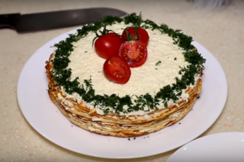 Закусочный куриный торт
