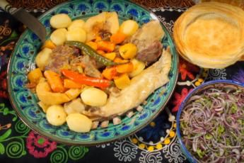 Настоящая узбекская шурпа. Очень простой рецепт, и первое, и второе одновременно