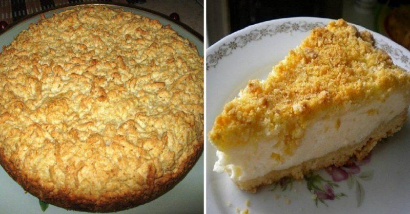 Тот самый тертый пирог с творогом: пышная вкуснятина прямиком из детства. Запасаемся белком на зиму!