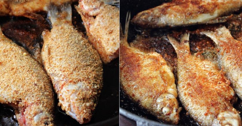 Кости в карасе пропекутся и растворятся, если приготовить рыбу таким образом. Жарь без колебаний!