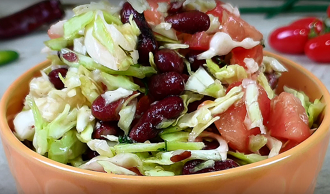 Самый весенний витаминный салат «Легкость»! Через 2 минуты на вашей кухне родится чудо!