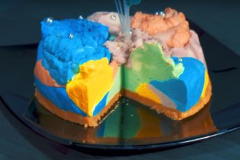 Гениальный торт «Радуга»! Творог, желатин и буйство красок!